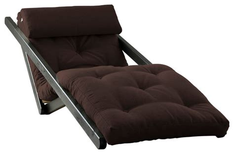 Futon Sleeper Chair by Figo Convertible Futon Chair Bed Mocha Frame Chocolate