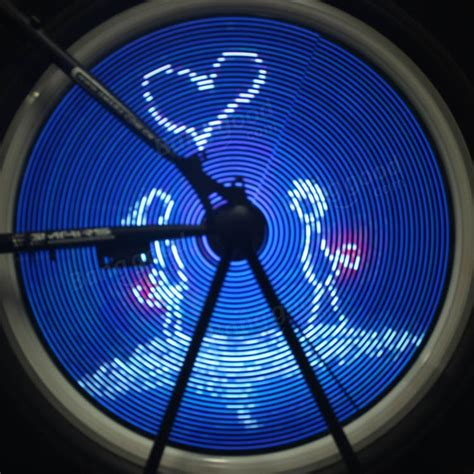 216 led programmable diy bicycle wheel light bike wheel