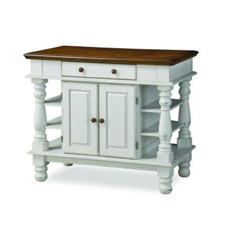 Large Kitchen Island Home Depot Home Styles Americana Kitchen Island In Distressed White