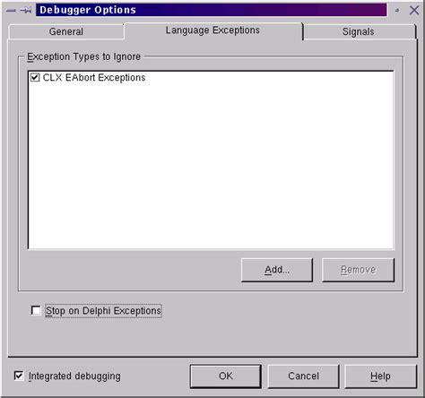 delphi exception tutorial kylix tutorial part 3