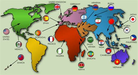 map  languages   world  travel information