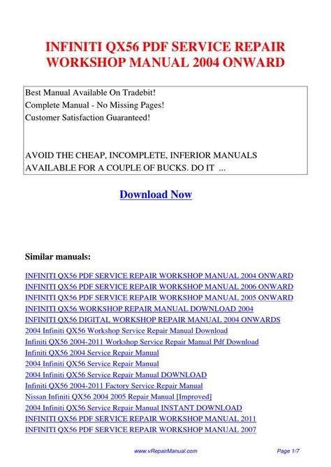 service manuals schematics 2011 infiniti qx56 electronic valve timing infiniti qx56 service repair workshop manual 2004 onward by huang luan issuu