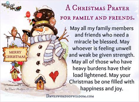 My Snowman Fiancee daveswordsofwisdom the prayer for family