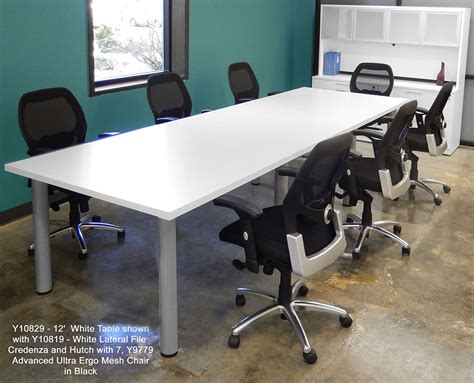 boardroom table and chairs for white conference tables 8 length see other sizes