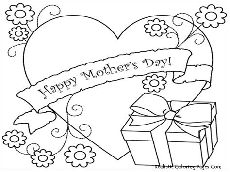 mothers day coloring page printable mothers day coloring pages realistic coloring