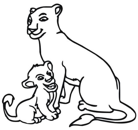 lion cub cartoon coloring pages coloring pages