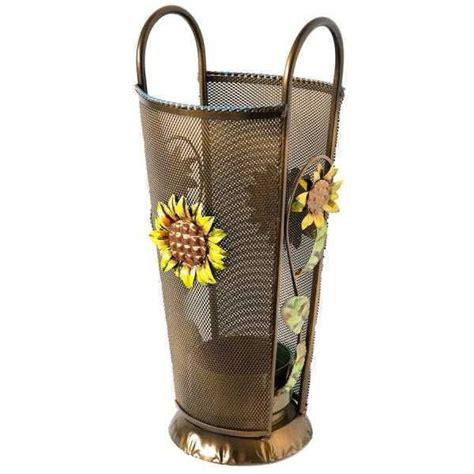 ebay arredamento casa portaombrelli ombrello in ferro battuto con girasoli