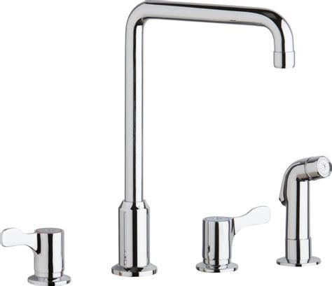 elkay lk810ha deck centered high arc commercial kitchen elkay lkd2433c chrome high arc widespread kitchen faucet