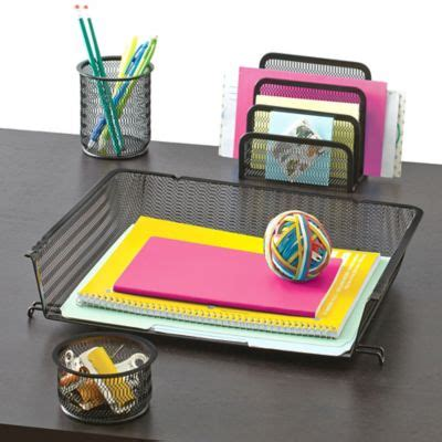 desk organizer set buy mesh desk organizer 4 set in silver from bed