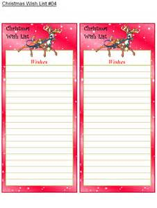 free printable christmas wish lists holiday money savers