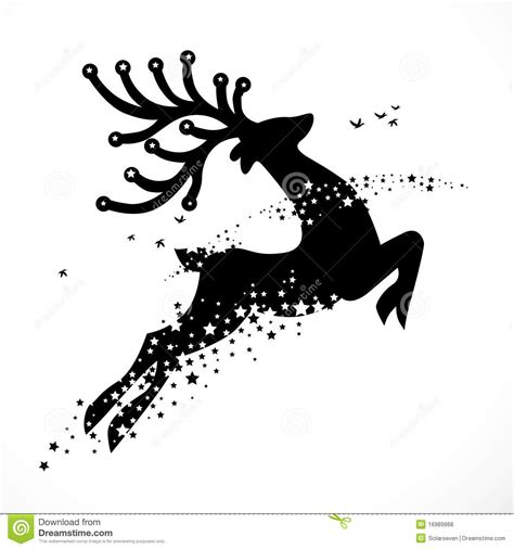 christmas reindeer decoration stock vector illustration