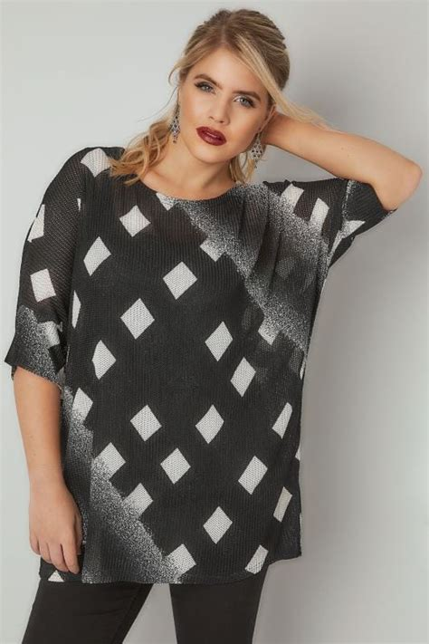 Vanilla Mastercard Gift Card Not Working - blue vanilla curve black white diamond print knitted top plus size 18 to 24