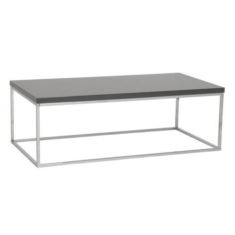 Square Or Rectangle Coffee Table Eurostyle Teresa Rectangular Gray Lacquer Coffee Table Ebay