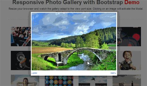 bootstrap gallery tutorial let s add next and previous buttons to our bootstrap photo
