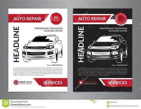 auto mobile de set auto repair business layout templates automobile