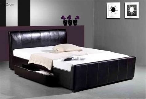 Leather Bed With Drawers by Faux Leather Bed With Drawers Homehighlight Co Uk