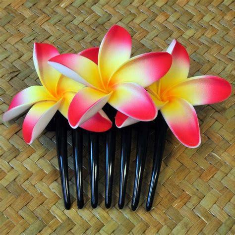 hängematte billig kaufen bl 252 ten kunstblumen plumeria haarschmuck pink gelb