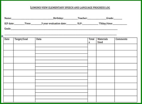 iep report sle speech therapy progress report template 28 images