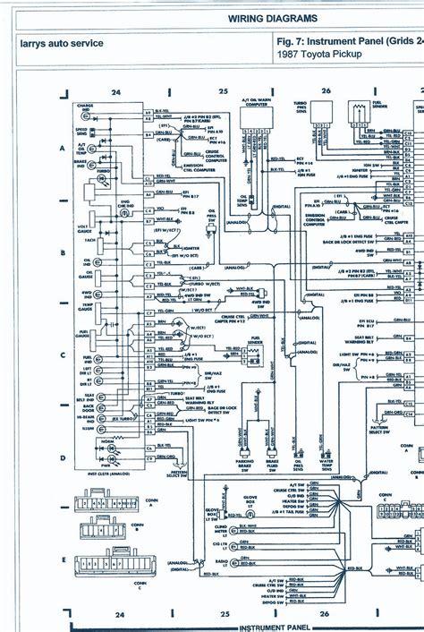 toyota pickup wd  engine wiring diagram auto wiring diagrams