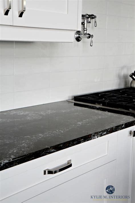 off white kitchen cabinets with quartz countertops cambria ellesmere black quartz countertop white kitchen