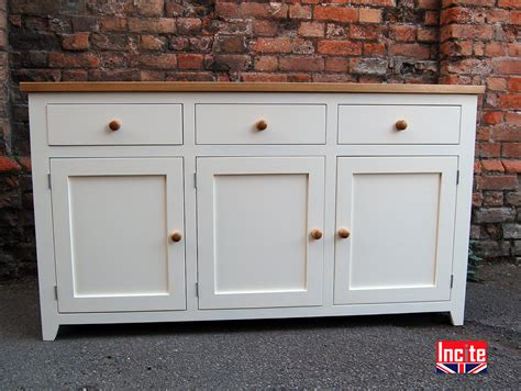 Handmade Painted Furniture - painted shaker sideboards with solid oak by incite derby