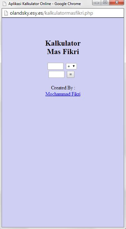 membuat kalkulator html membuat kalkulator online menggunakan html pengetahuan