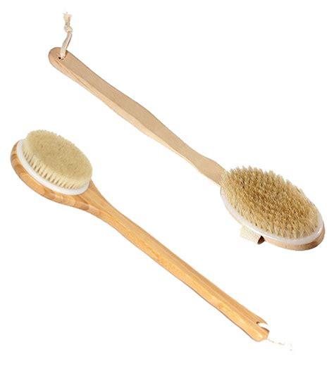 manico doccia stock 2pz spazzola bagno doccia in legno con manico lungo