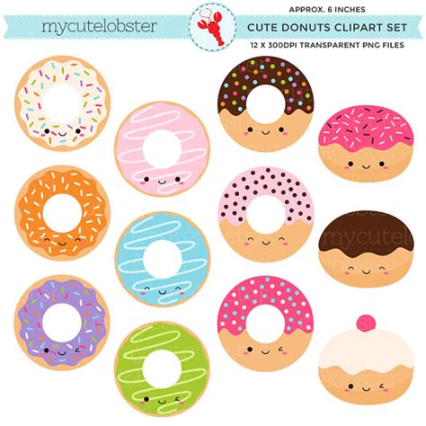 cute donut pictures cute donuts clipart set clip art set of kawaii donuts cute