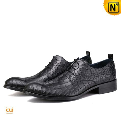 embossed leather shoes croc embossed leather dress shoes for cw762018