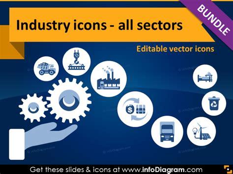 industries icons bundle production services resources