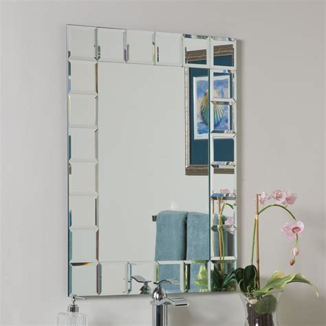 Decor Wonderland Ssm414 1 Montreal Modern Bathroom Mirror Lowes Mirrors Bathroom