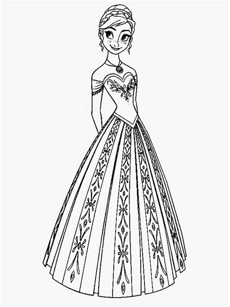 frozen coloring pages anna coloring pages images