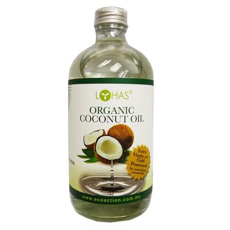 Organic Cold Processed Coconut By Lohas 480ml organic coconut vco 480 ml jual