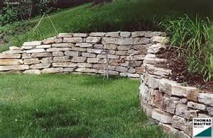 steinmauer im garten steinmauern im garten