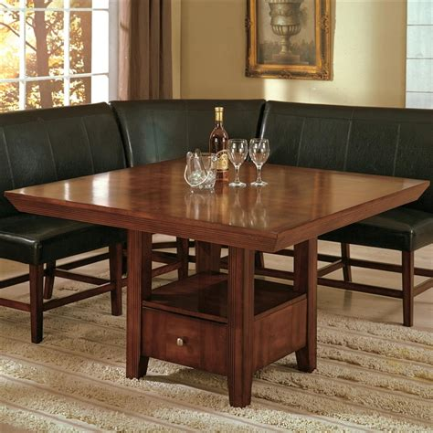 salem 5 dining set in warm brown cherry finish by crown 2288