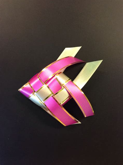 How To Make A Ribbon Origami - how to make a fish w ribbon origami arts and crafts