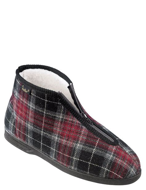 zip slippers dr keller thermal lined zip boot slipper chums