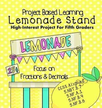 End Of The Year Project Based Learning Lemonade Stand