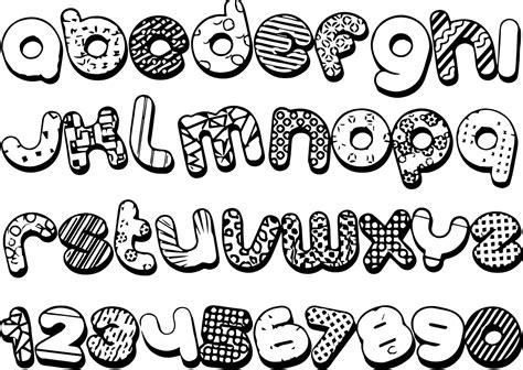 gambar wallpaper mewarnai hitam putih huruf alfabet anak
