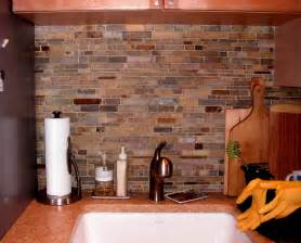 Tile For Kitchen Backsplash Pictures Color Forte Colorful Slate Tile Backsplash For Kitchen