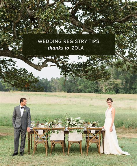 Wedding Zola tips for creating a wedding registry with zola