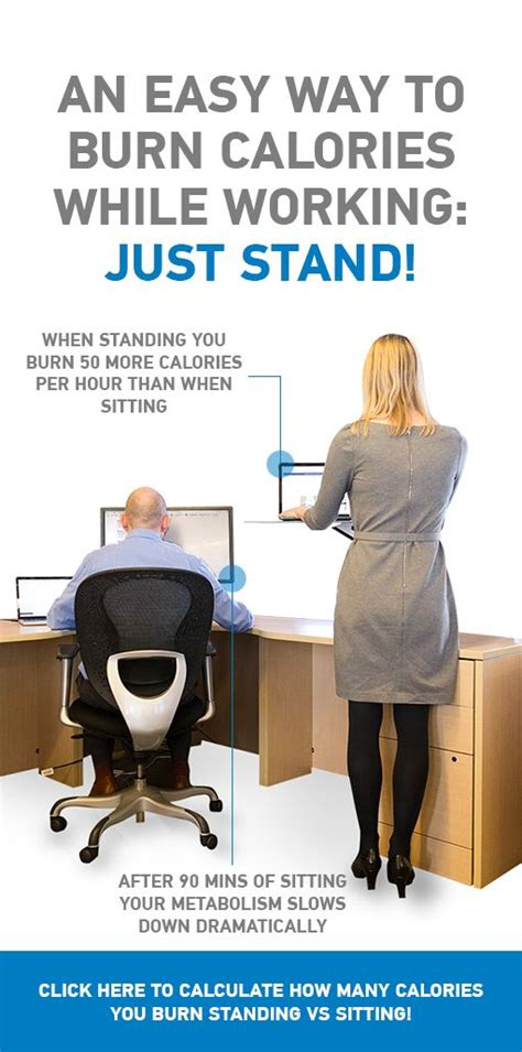 calories burned standing desk 15 best juststand images on stand