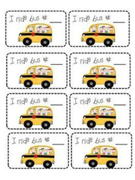 printable bus tags for students transportation tags for students bus car afterschool