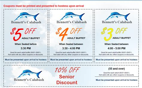 coupons myrtle beach seafood buffet