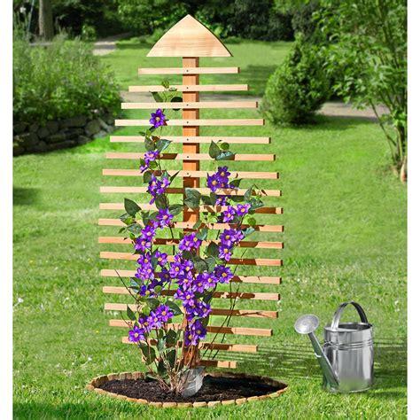 Gartendeko Holz Blatt by Rankskulptur Rankgitter Blatt Kiefernholz Kaufen