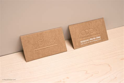 card paper brown kraft business cards
