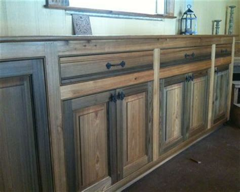 Cypress Kitchen Cabinets Cypress Kitchen Cabinets Select Sinker Cypress With Finish Makes Stunning Cabinetry