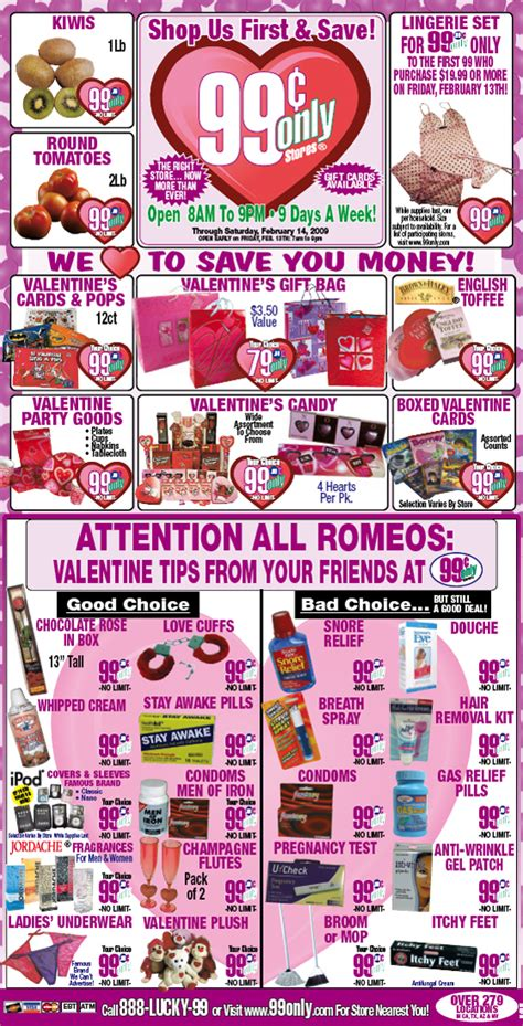 99 cent store valentines day brandfreak s day newspaper ad from 99 cents