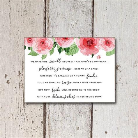 bridal shower bring recipe poem 25 best ideas about bridal shower poems on