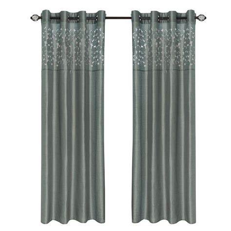 108 grey curtains lavish home grey karla laser cut grommet curtain panel